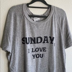 "Wildfox ""Sunday I Love You"" T-shirt"